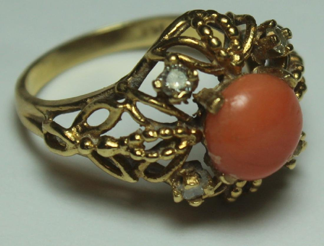 JEWELRY. Assorted Gold and Coral Jewelry. - 3