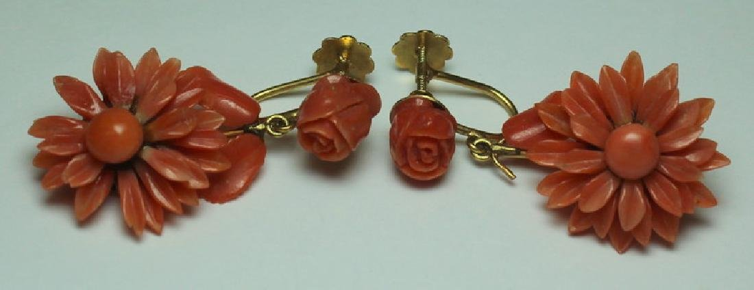 JEWELRY. Assorted Gold and Coral Jewelry. - 5