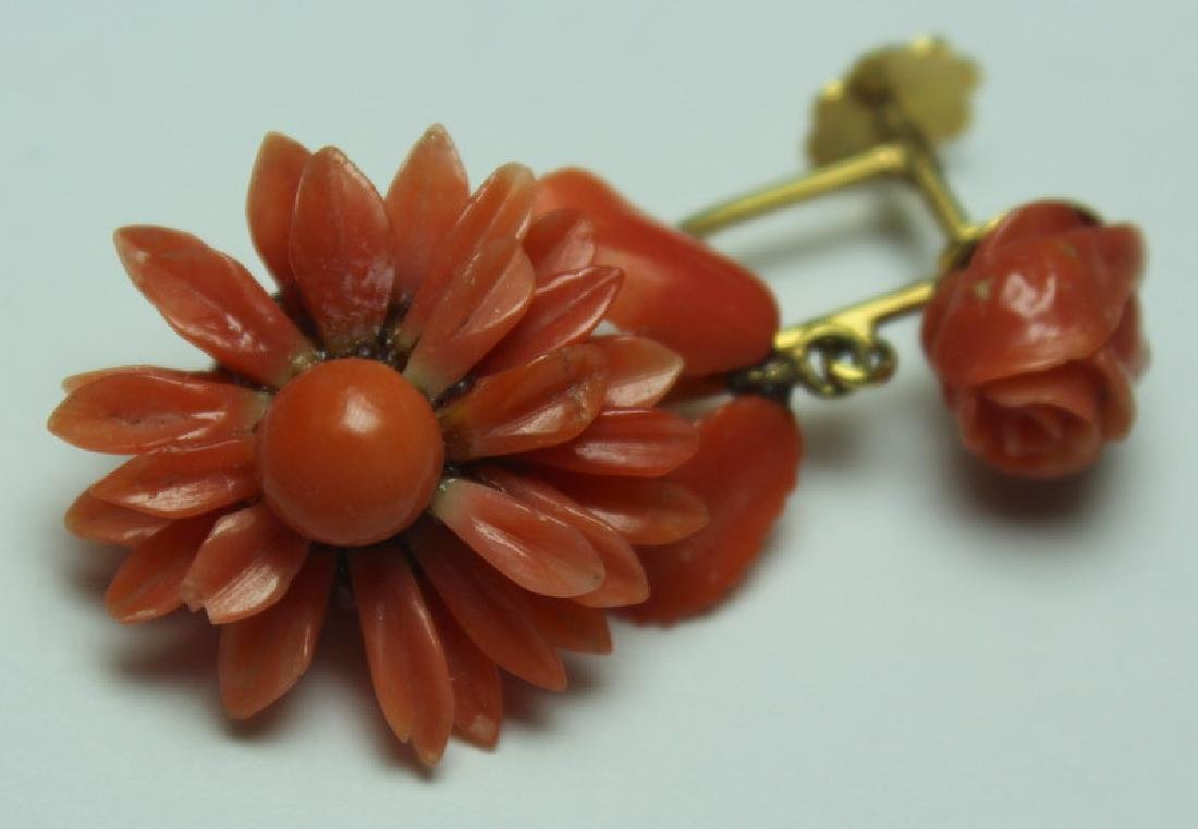 JEWELRY. Assorted Gold and Coral Jewelry. - 7