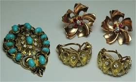 JEWELRY. Gold and Diamond Jewlery Grouping.