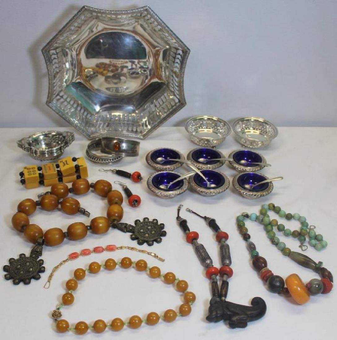 JEWELRY & STERLING. Assorted Grouping of Objects.
