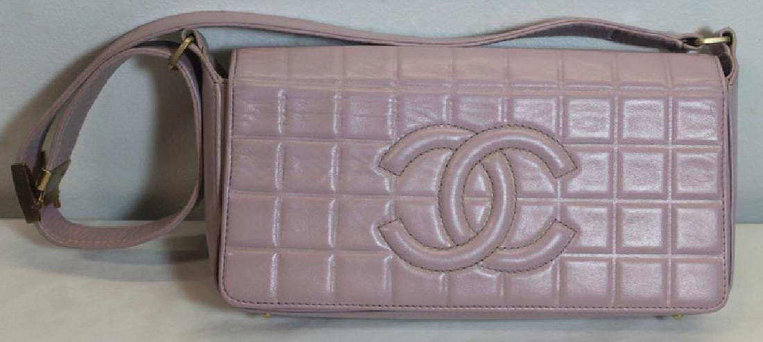 COUTURE. Chanel Lavender Quilted Leather Purse.