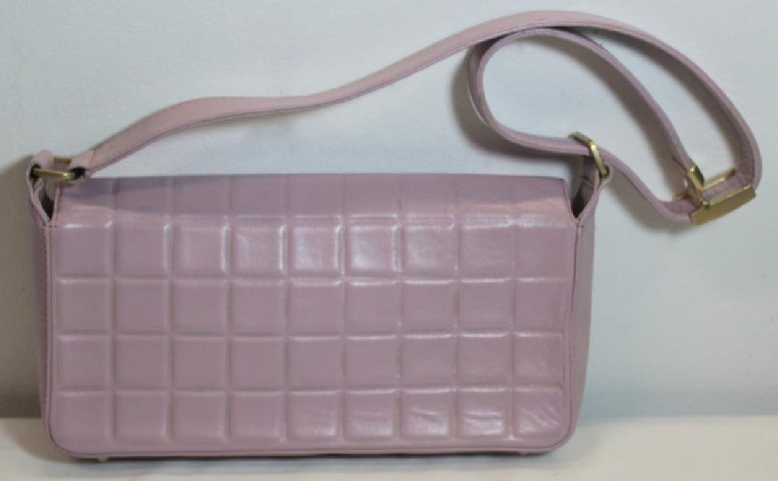 COUTURE. Chanel Lavender Quilted Leather Purse. - 2