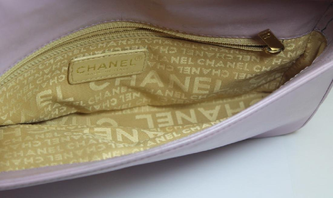 COUTURE. Chanel Lavender Quilted Leather Purse. - 6