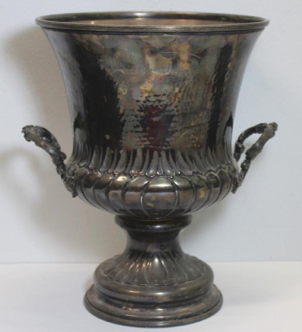 STERLING. Italian Sterling Handhammered Urn.