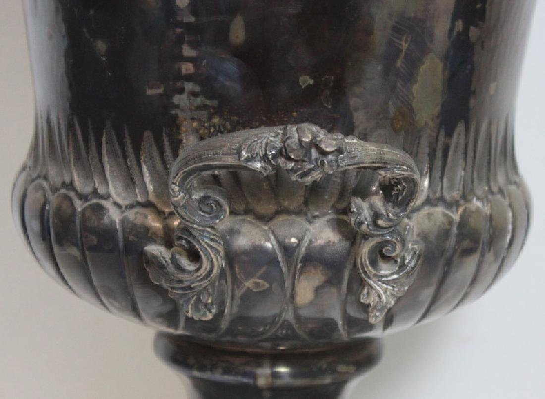 STERLING. Italian Sterling Handhammered Urn. - 5