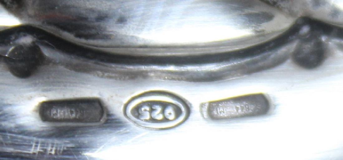 STERLING. Italian Sterling Handhammered Urn. - 6
