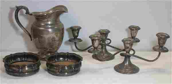 SILVER. Assorted Grouping of Silver Hollow Ware.