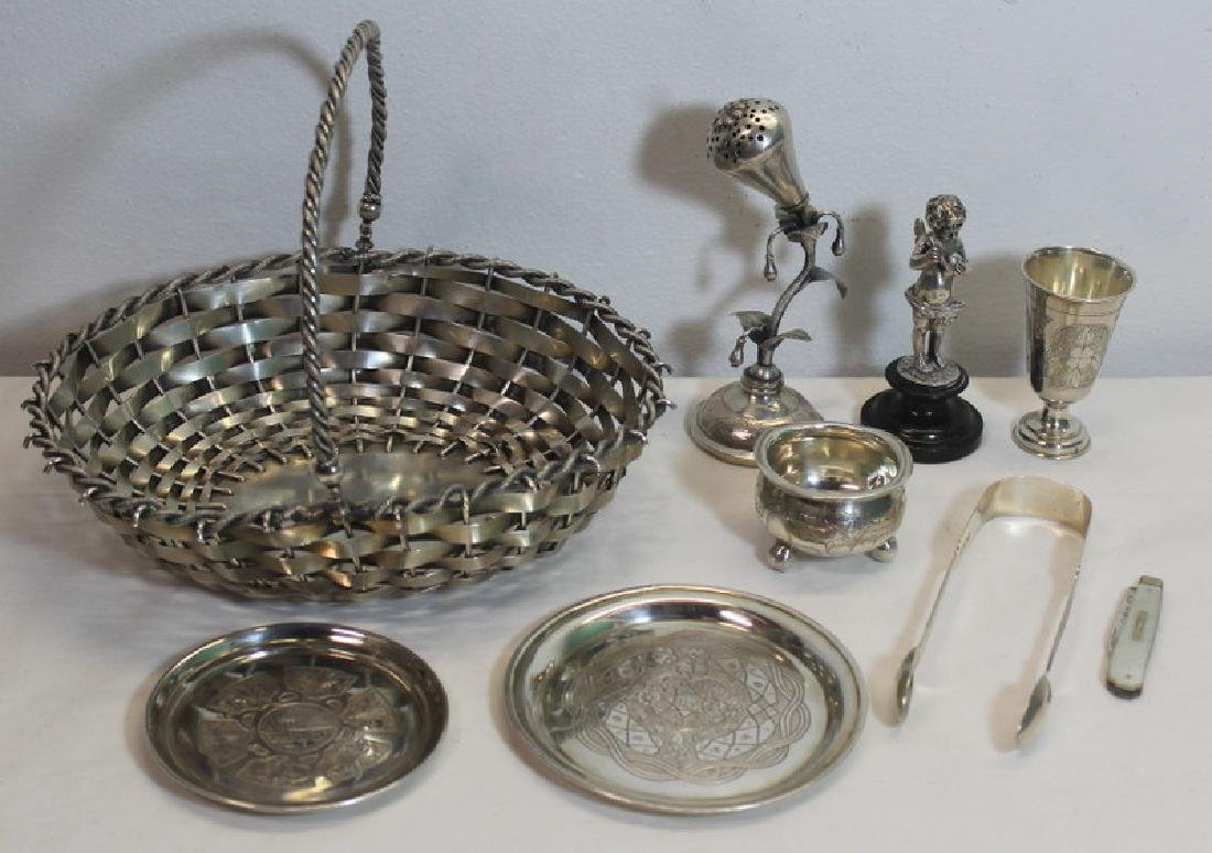 SILVER. Assorted Grouping of Continental Silver.
