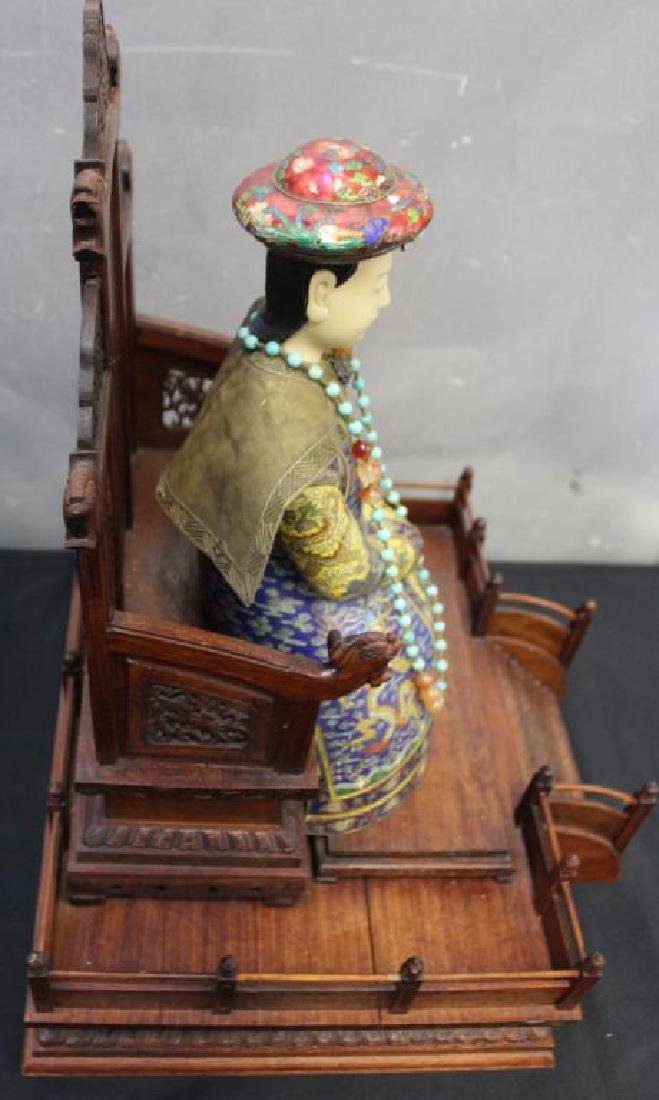 2 Antique Champleve Chinese Ancestoral Sculptures - 5