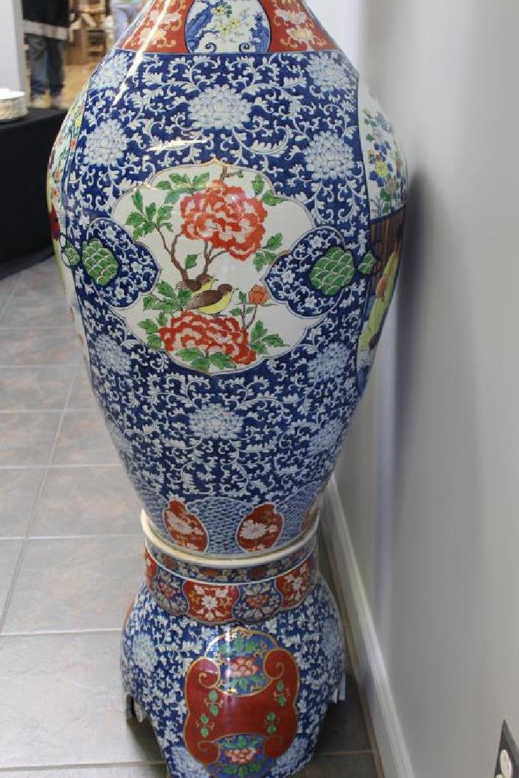 Pair Of Fine Quality Palace Size Enamel Decorated - 6
