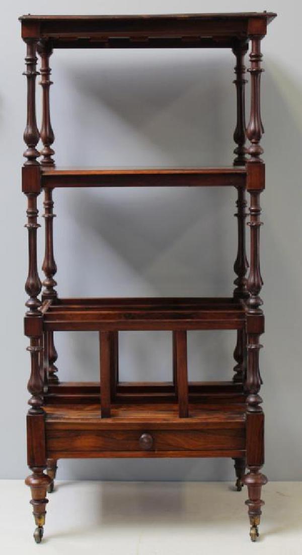 Regency Rosewood 1 Drawer Wot Not Shelf.