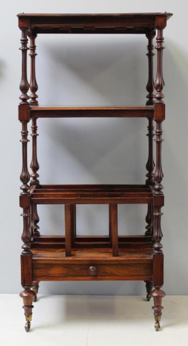 Regency Rosewood 1 Drawer Wot Not Shelf. - 2