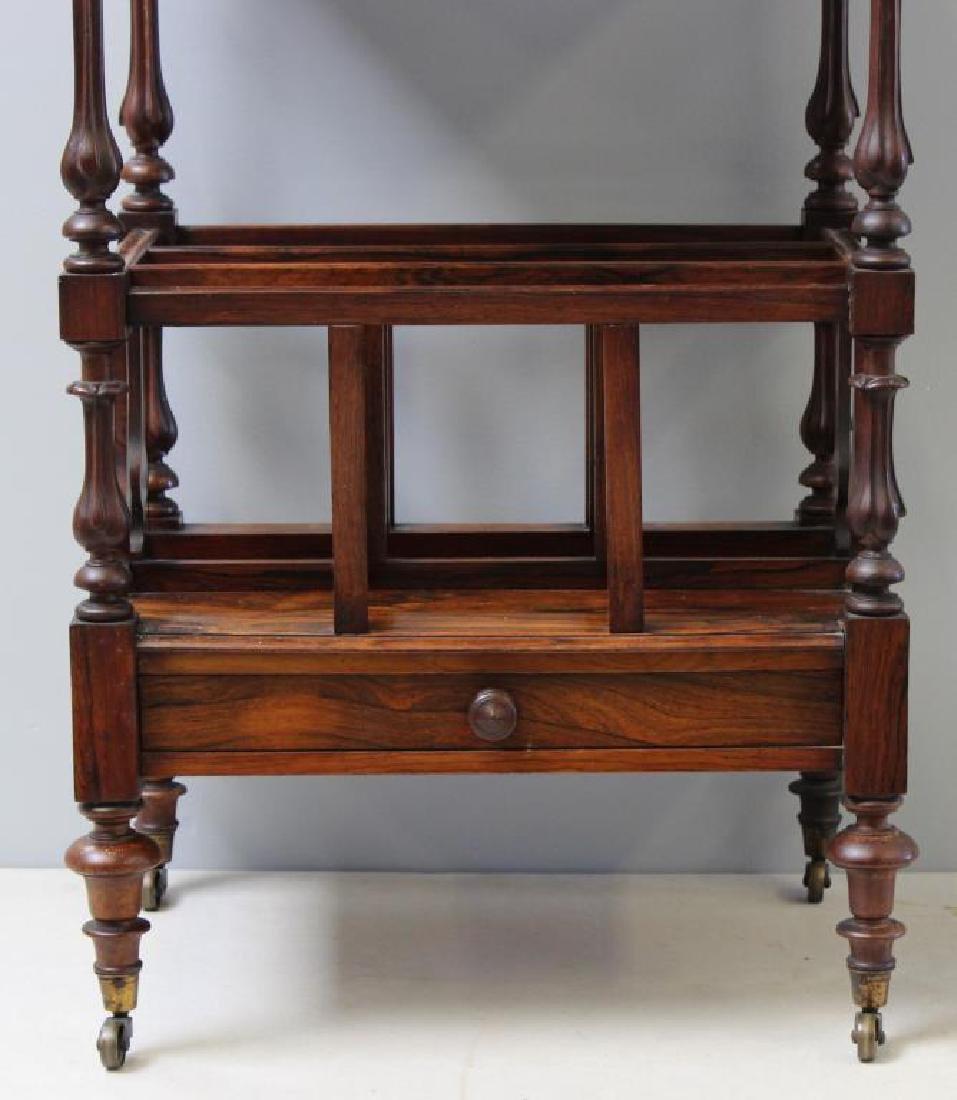 Regency Rosewood 1 Drawer Wot Not Shelf. - 3