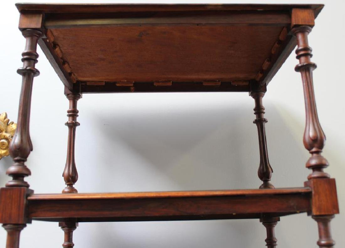 Regency Rosewood 1 Drawer Wot Not Shelf. - 4