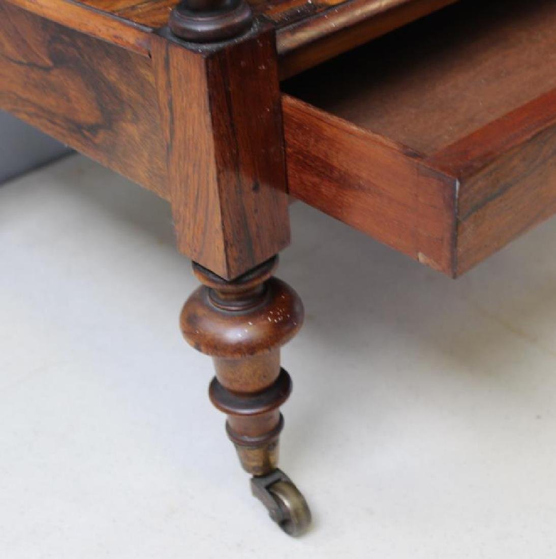 Regency Rosewood 1 Drawer Wot Not Shelf. - 5