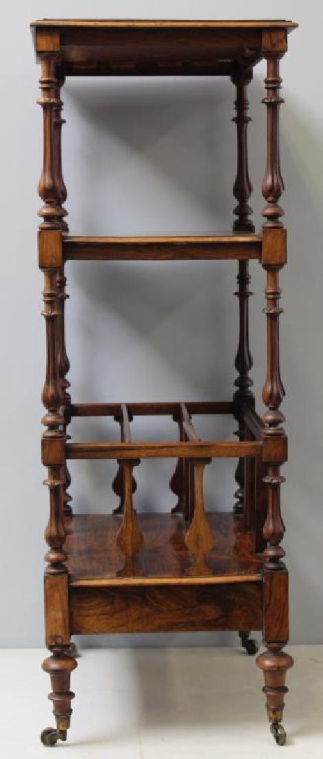 Regency Rosewood 1 Drawer Wot Not Shelf. - 6