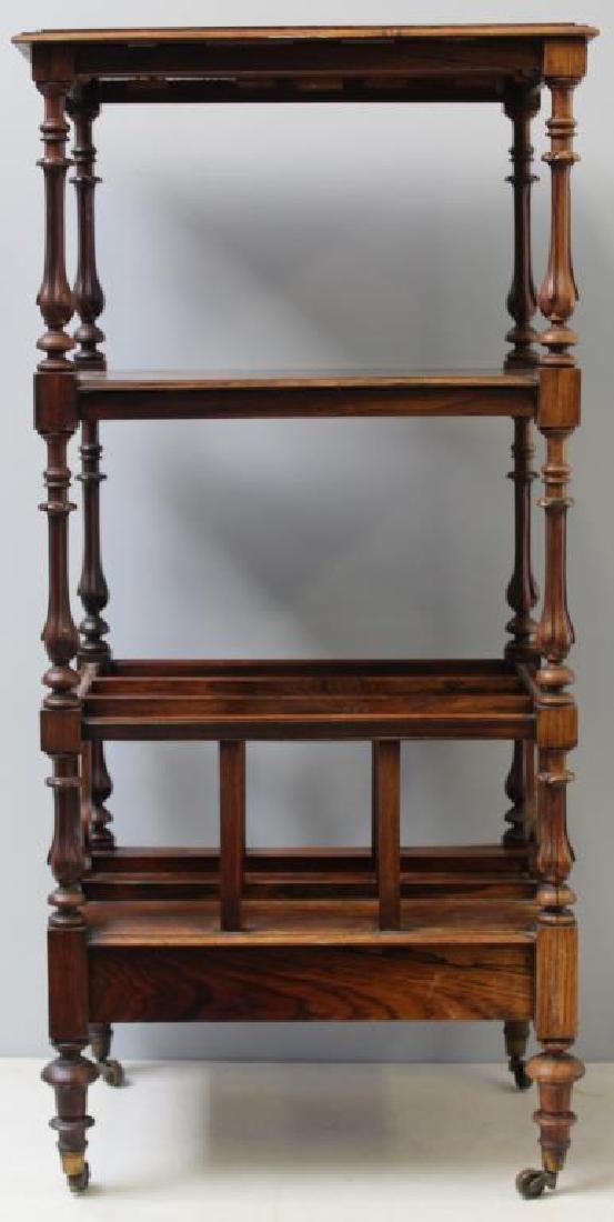 Regency Rosewood 1 Drawer Wot Not Shelf. - 7