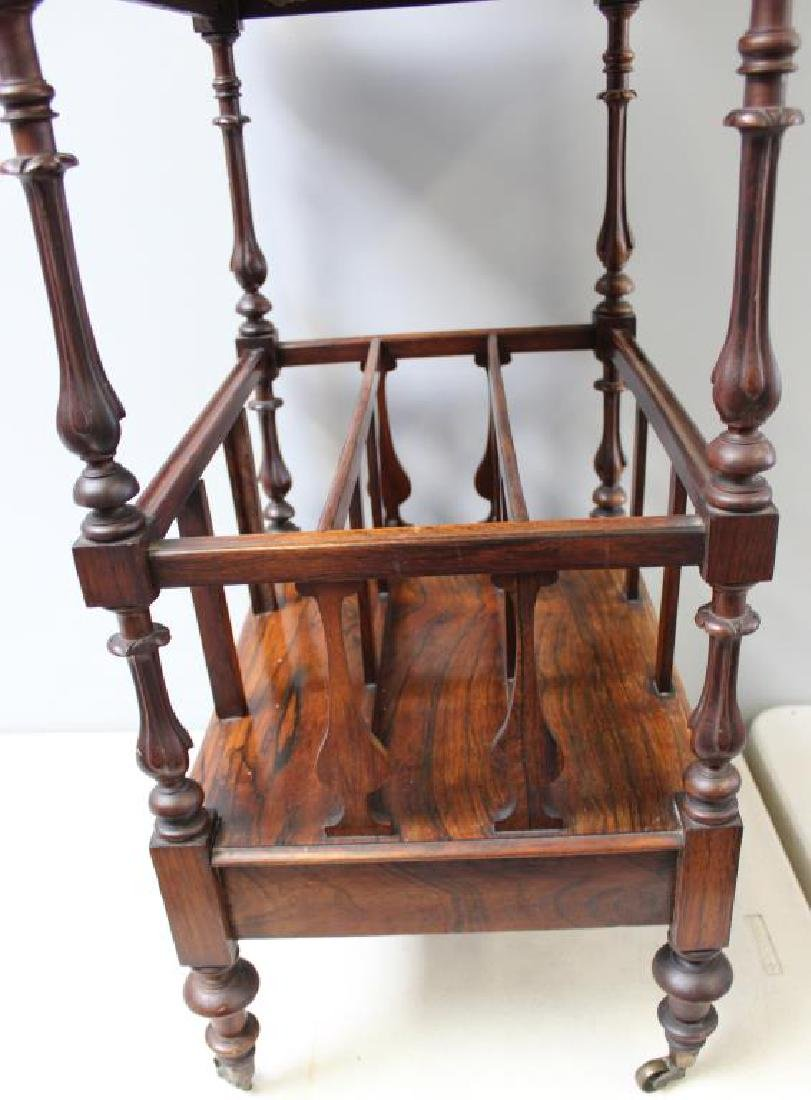 Regency Rosewood 1 Drawer Wot Not Shelf. - 8