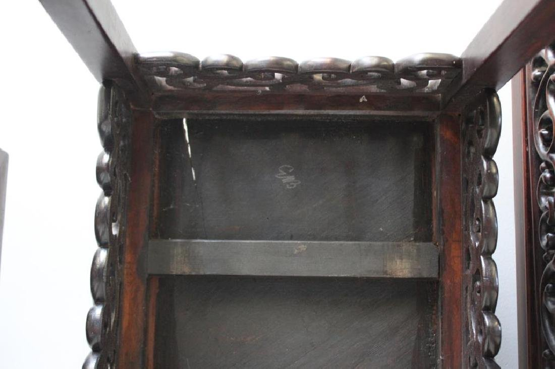 Antique Chinese Hardwood Nesting Tables Together - 5