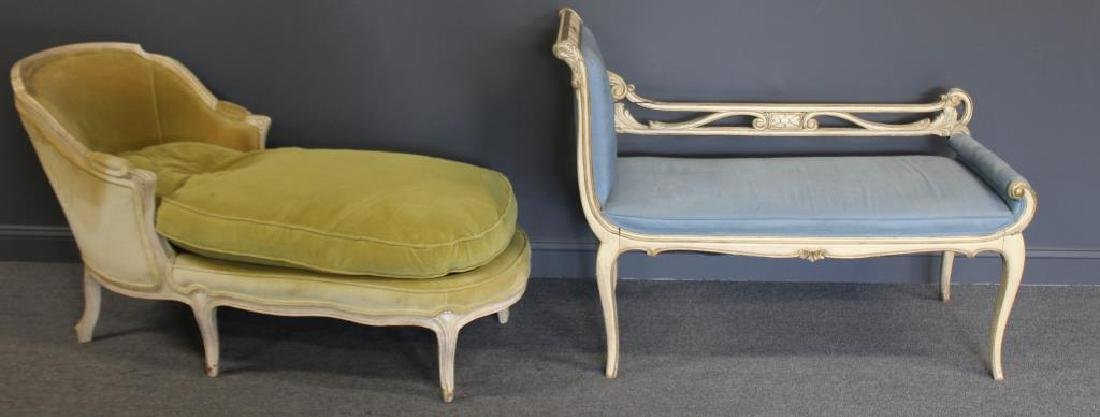 Classical Style Paint and Gilt Decorated Settee