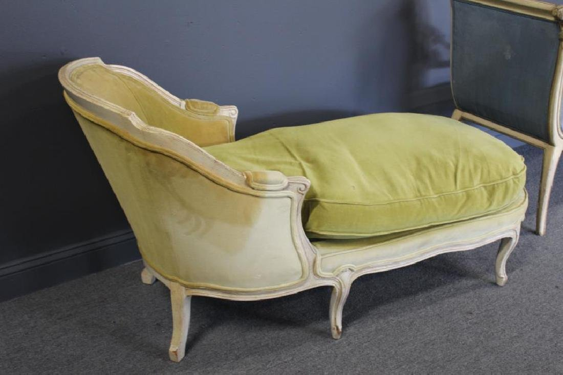 Classical Style Paint and Gilt Decorated Settee - 2