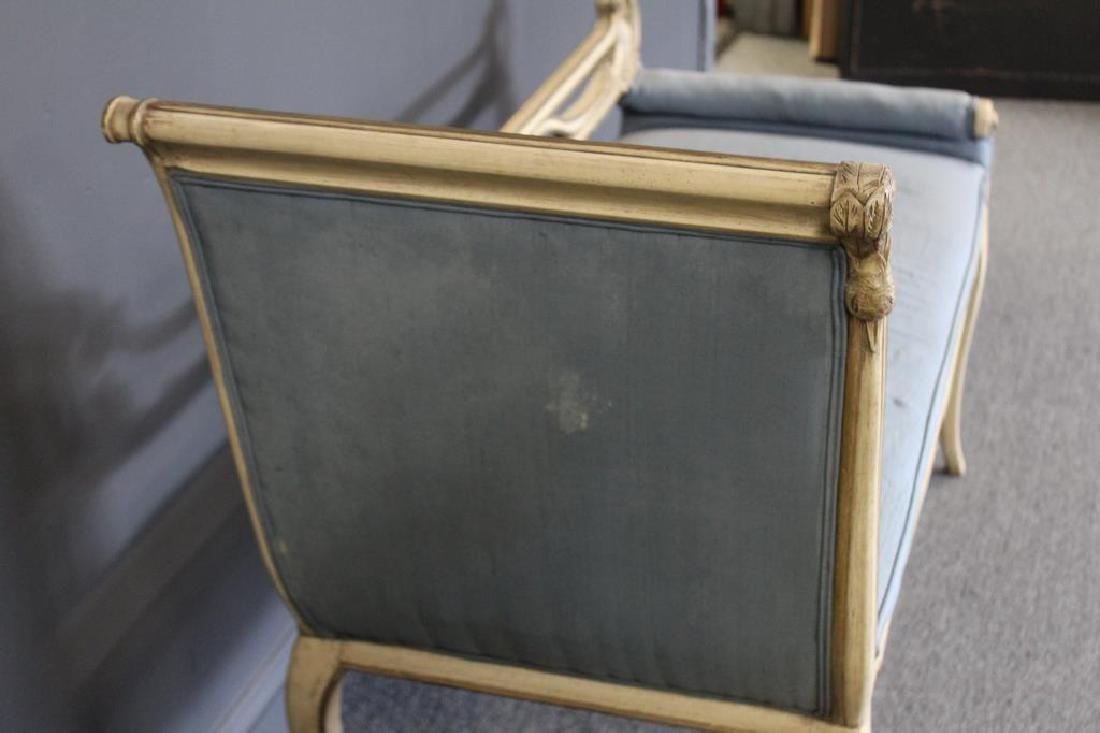 Classical Style Paint and Gilt Decorated Settee - 3