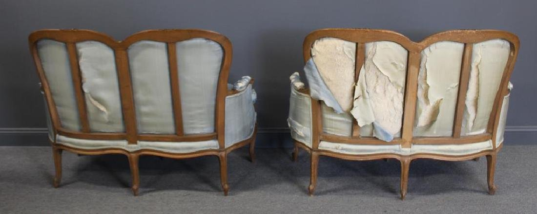 Pair Of Antique Louis XV Style Down Filled Settees - 2