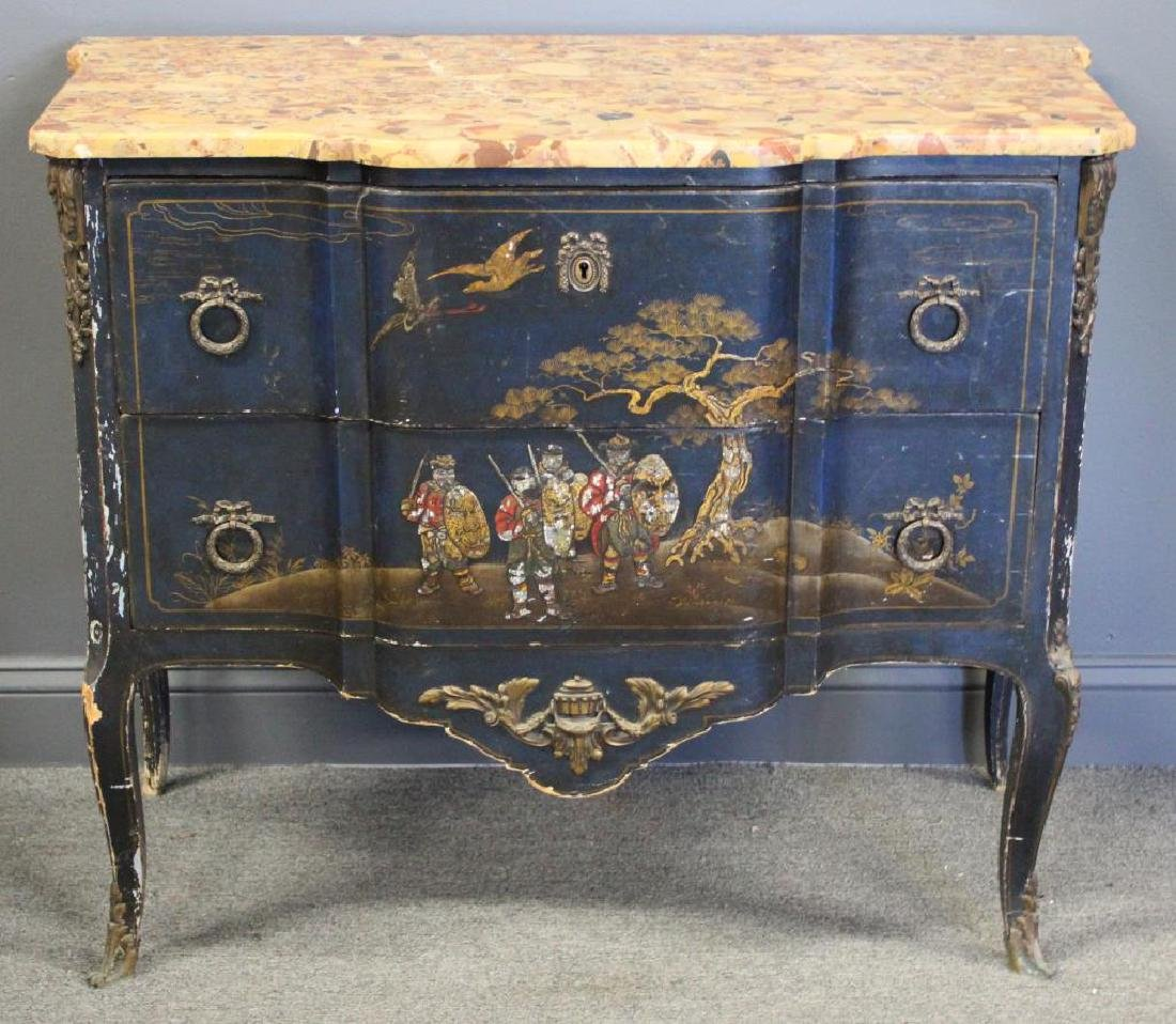 Antique Chinoiserie Decorated , Bronze Mounted