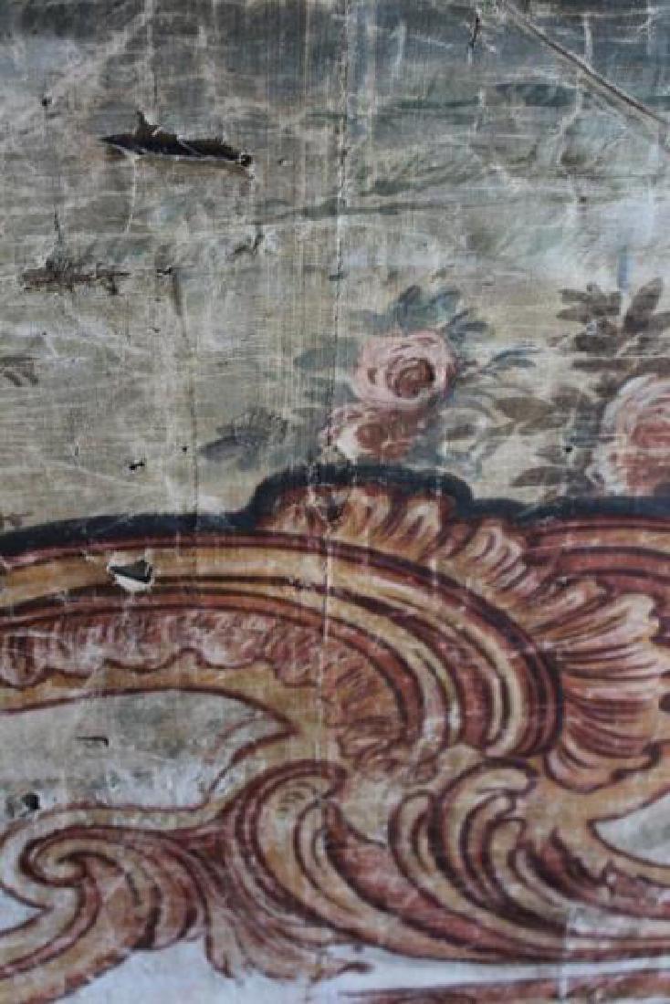 Large Antique Framed Tapestry. - 12