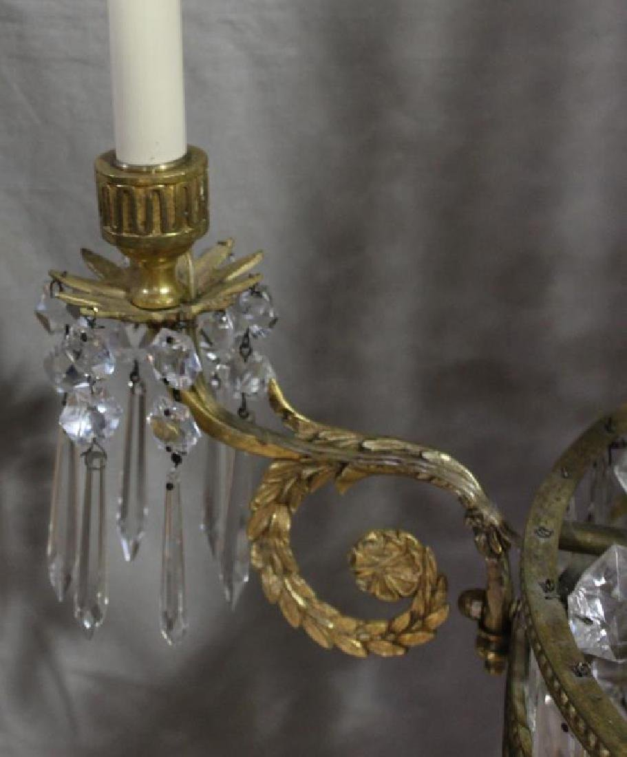 Fine Quality Gilt Bronze and Crystal Balloon Form - 3