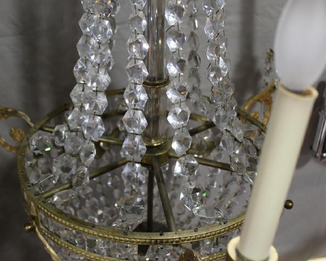 Fine Quality Gilt Bronze and Crystal Balloon Form - 5