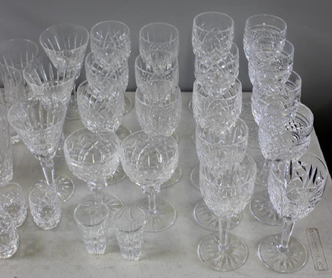 Large Lot of Assorted Waterford Crystal Goblets, - 3