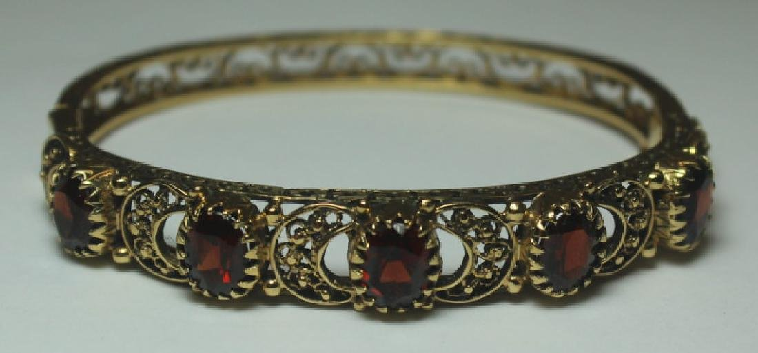 JEWELRY. Gold, Ruby, and Garnet Jewelry Grouping. - 2