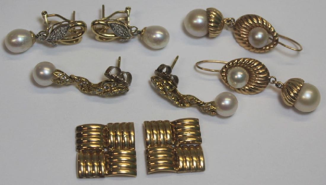 JEWELRY. Pearl, Diamond, and Gold Jewelry Grouping