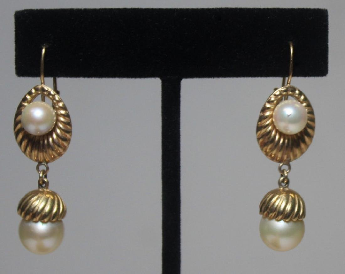 JEWELRY. Pearl, Diamond, and Gold Jewelry Grouping - 3