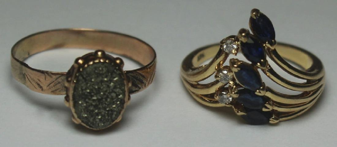 JEWELRY. Assorted Gold Jewelry Grouping. - 7