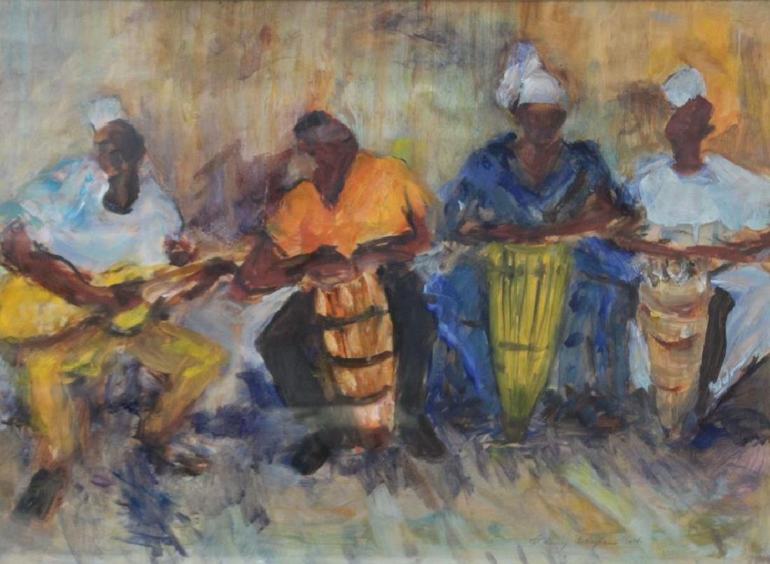 BAYLEN, Janny. Oil on Paper. Musicians. 1964.
