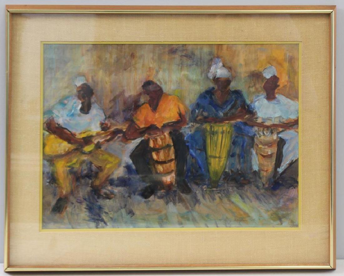 BAYLEN, Janny. Oil on Paper. Musicians. 1964. - 2