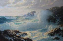 ARNETZ, Josef M. Oil on Canvas. Seascape.