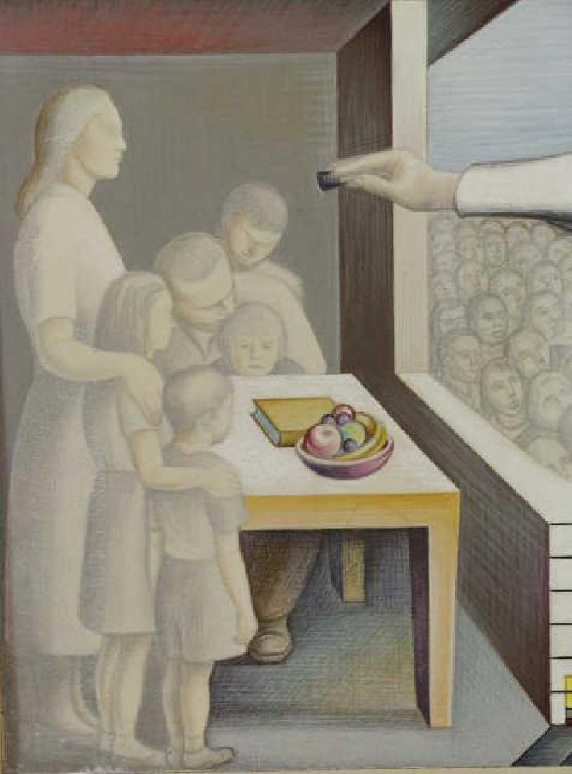 """TOBIAS, Abraham. """"The Clinic"""" 1954. Two (2) Works. - 5"""