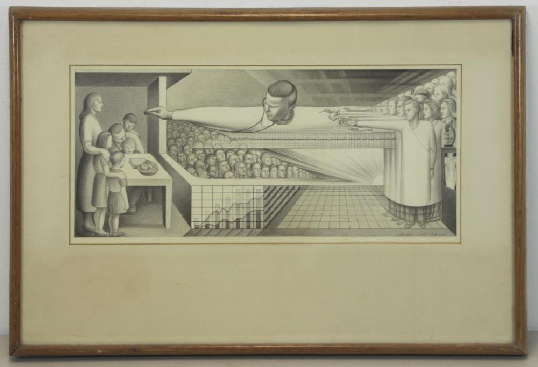 """TOBIAS, Abraham. """"The Clinic"""" 1954. Two (2) Works. - 7"""