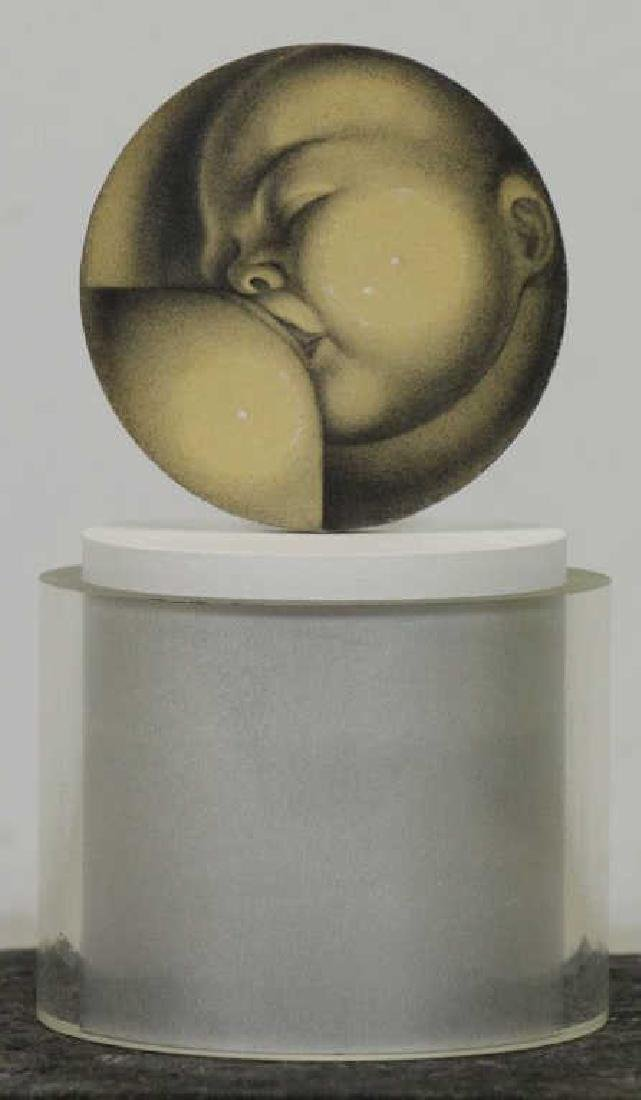 TOBIAS, Abraham. Painted Plaster Maquette. Maternity