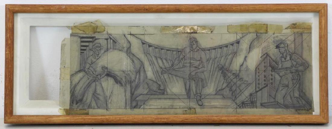 TOBIAS, Abraham. Two Mural Studies. Casein on - 10