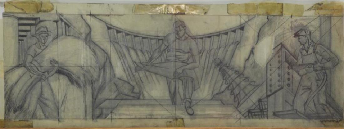 TOBIAS, Abraham. Two Mural Studies. Casein on - 9