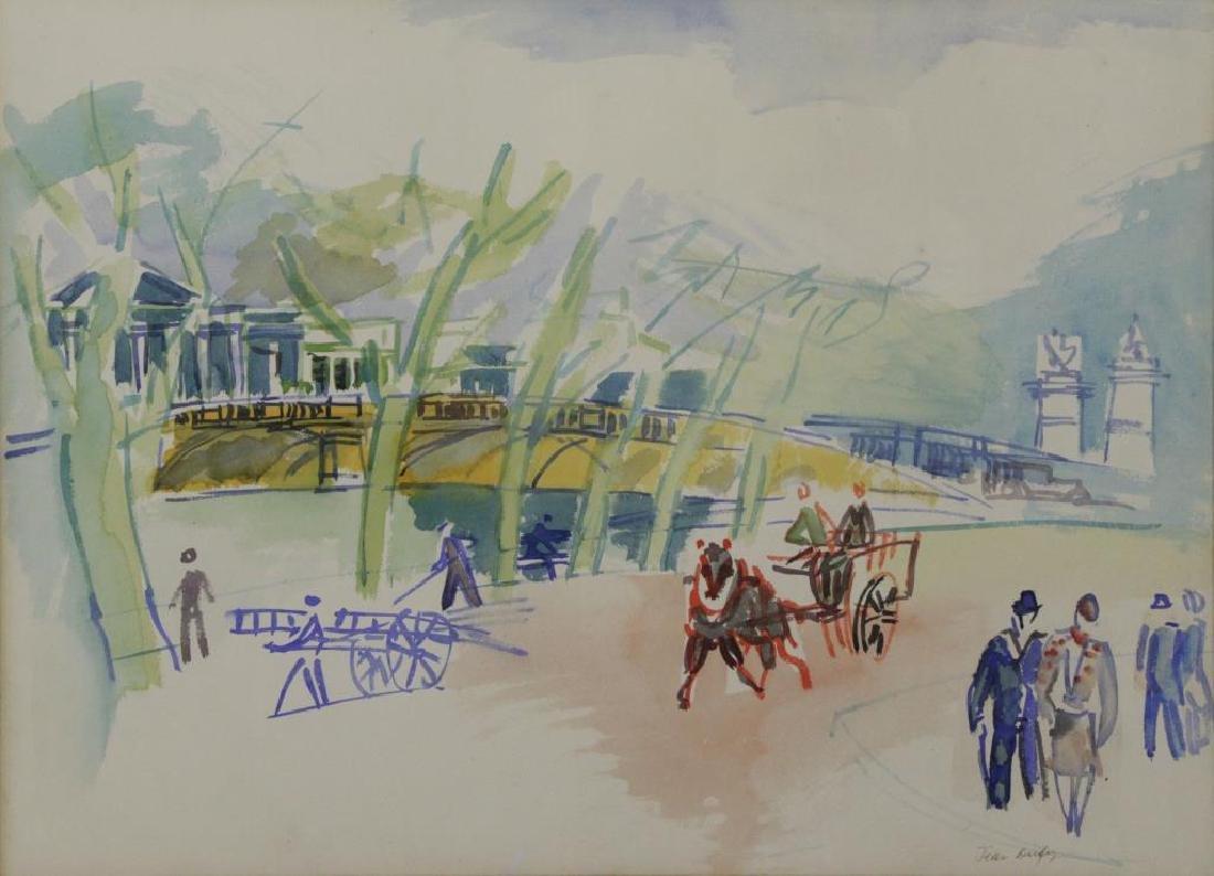 """DUFY, Jean. Watercolor on Paper. """"Au Bord de la"""
