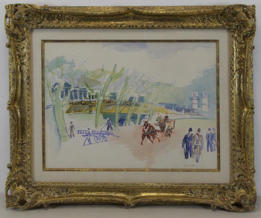 """DUFY, Jean. Watercolor on Paper. """"Au Bord de la - 2"""