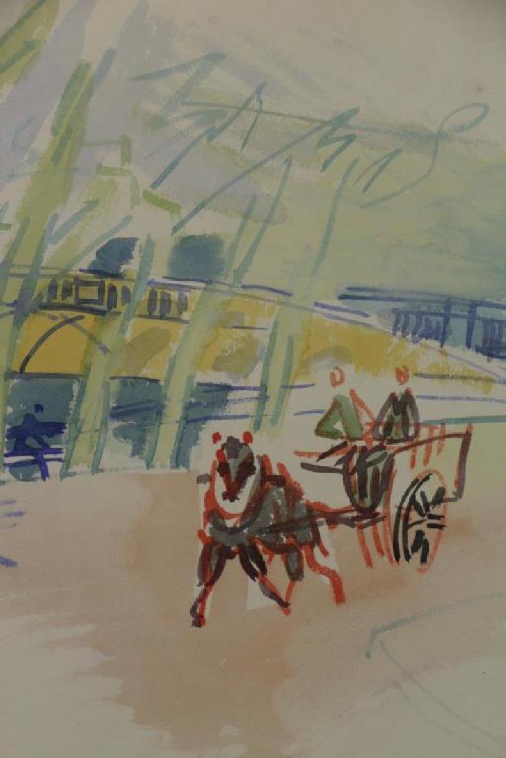 """DUFY, Jean. Watercolor on Paper. """"Au Bord de la - 3"""