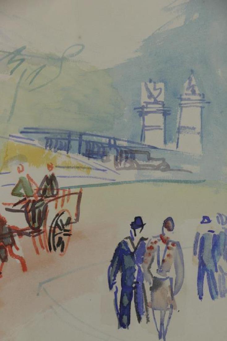 """DUFY, Jean. Watercolor on Paper. """"Au Bord de la - 4"""