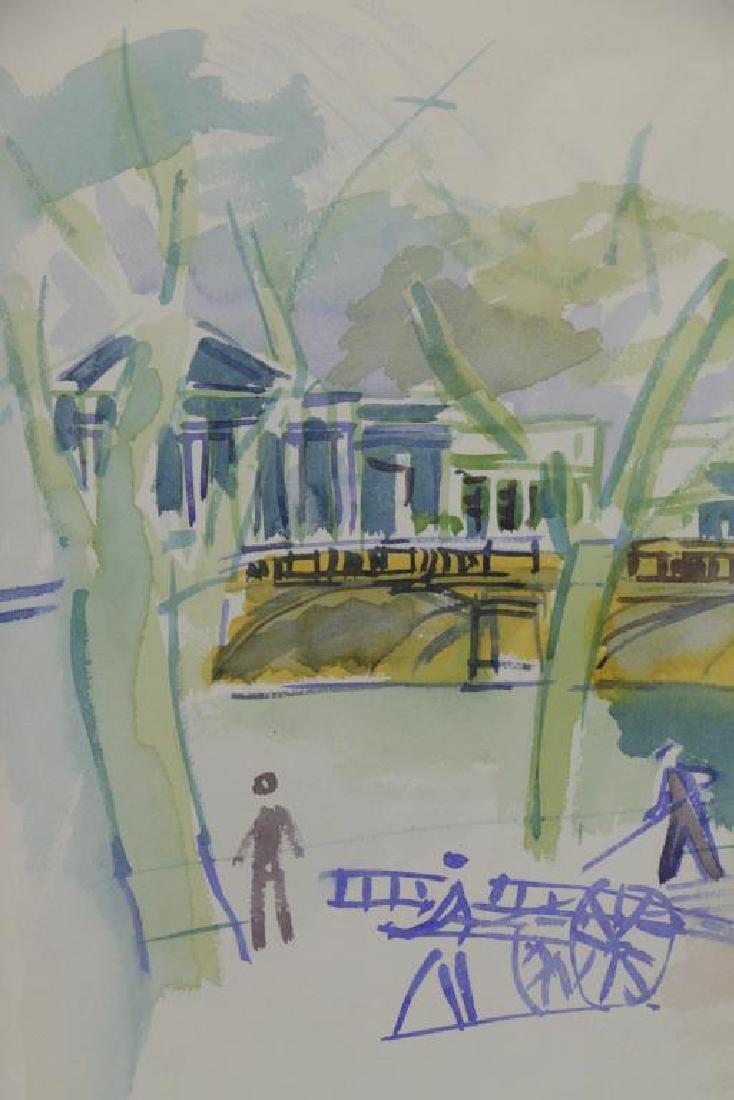 """DUFY, Jean. Watercolor on Paper. """"Au Bord de la - 5"""